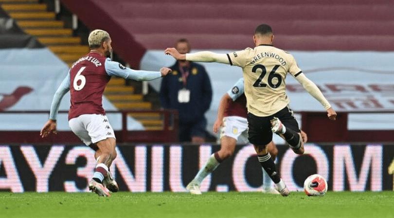 Mason Greenwood goal vs Aston Villa Man Utd protégé belts a stunner to double lead