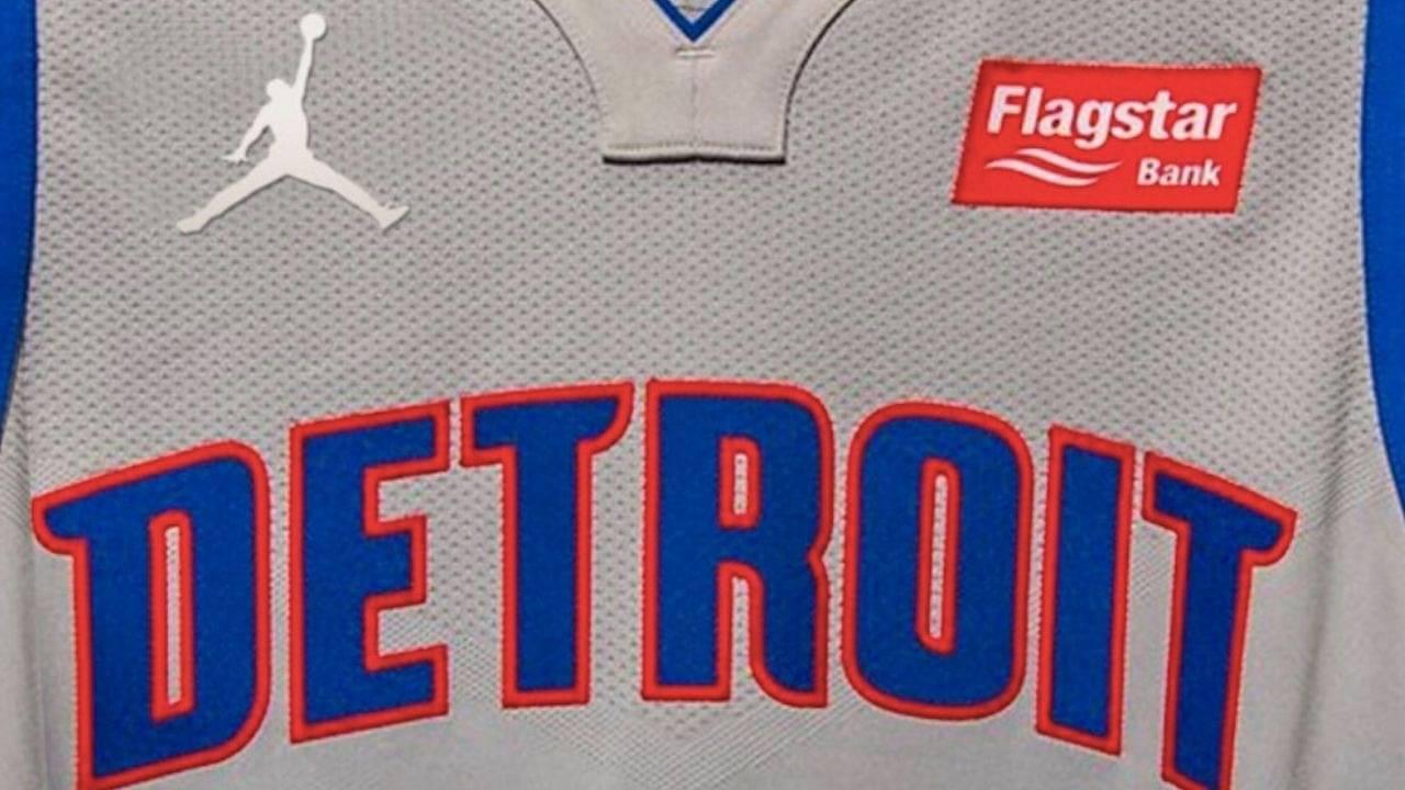 Michael Jordan logo on Pistons Jersey