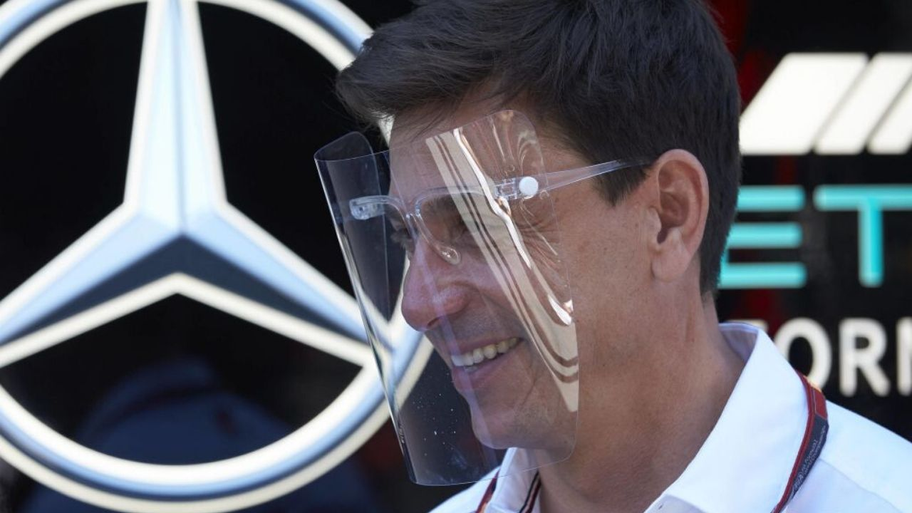 Toto Wolff face shield