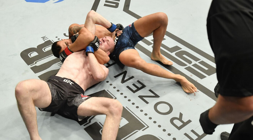UFC 251 Undercard highlights Makwan Amirkhani chokes Danny Henry while 5 nut shots take place in 5 matches
