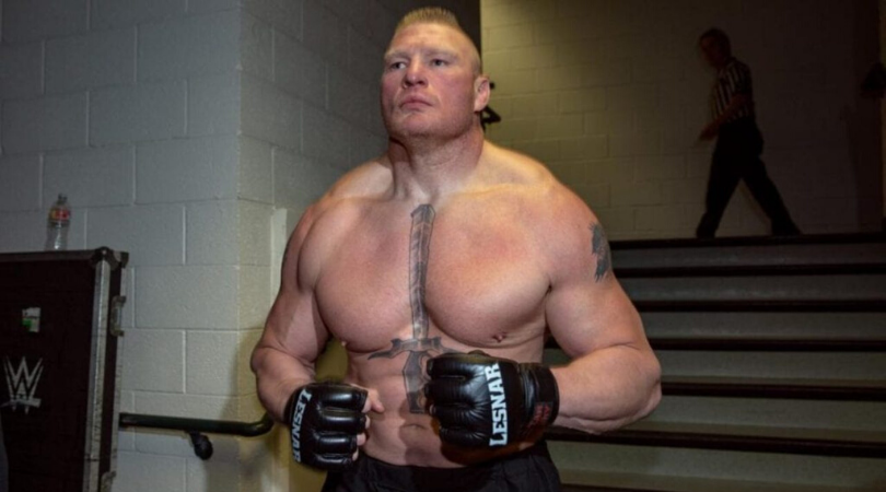 WWE RAW Superstar teases match with Brock Lesnar