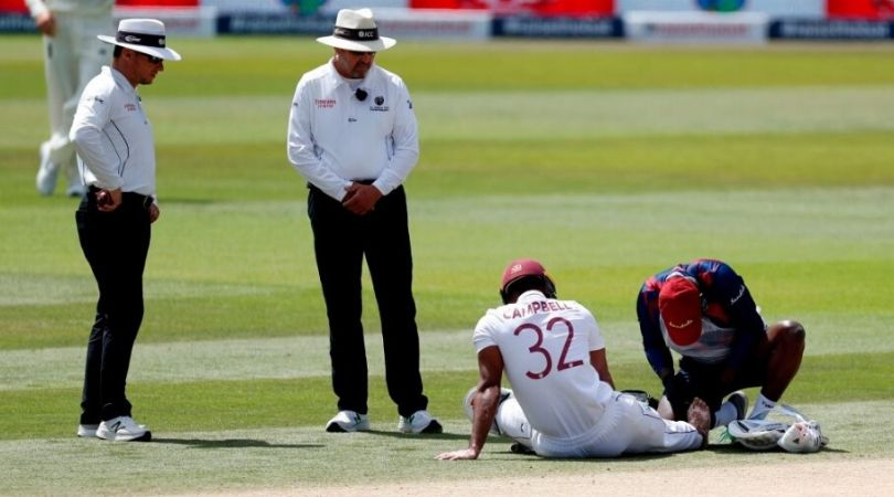 John Campbell Injury Update: West Indian opener retires hurt after suspected broken toe in Southampton Test