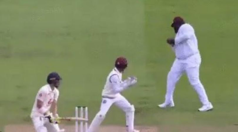 Rahkeem Cornwall catch vs England: Watch West Indian all-rounder grabs stunner at first slip to dismiss Rory Burns