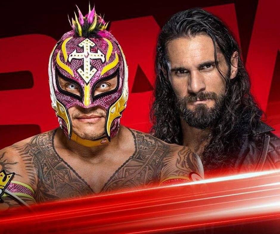 WWE Raw: Seth Rollins VS Rey Mysterio, Extreme Rules Stipulation
