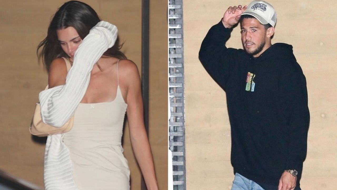 Devin Booker and Kendall Jenner meet up outside NBA Bubble ...