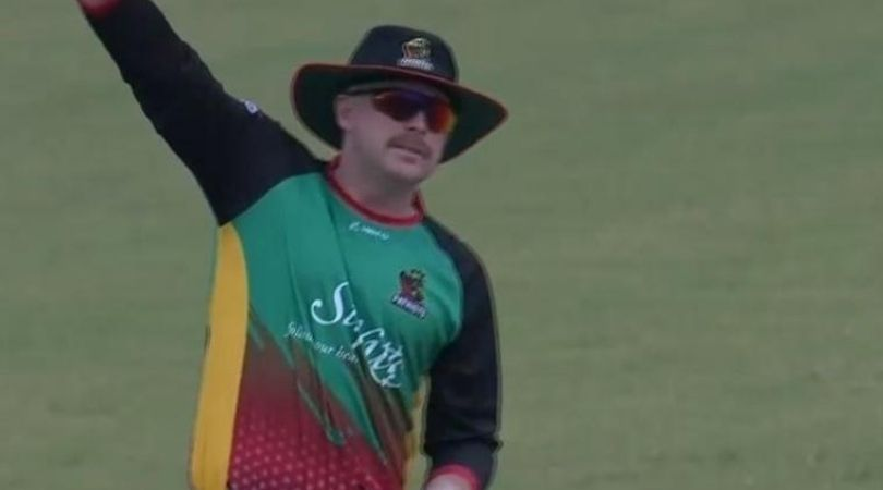 Ben Dunk bowling: Watch Patriots' player bowls with hat and shades vs Zouks in CPL 2020