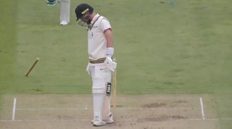 Bob Willis Trophy 2020: Jack Brooks castles Tom Lace as stump impales into ground in Taunton