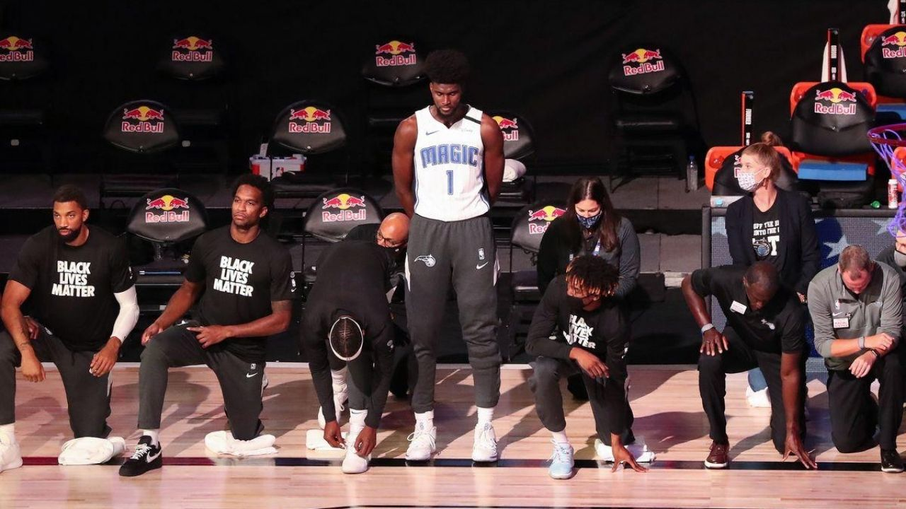 Jonathan Isaac did not kneel during National Anthem