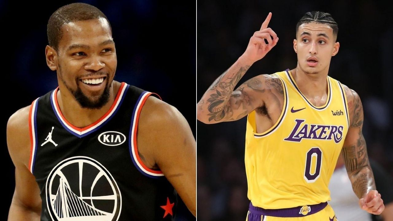 Kevin Durant mocks Lakers' Kyle Kuzma