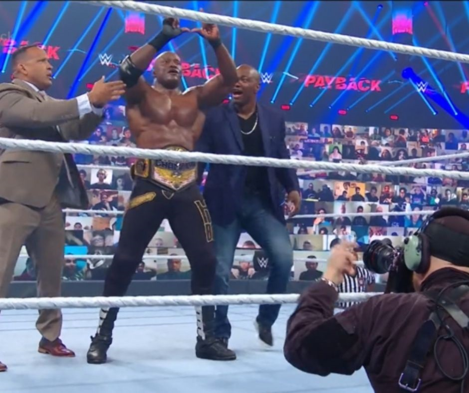Lashley Dominates Apollo Crews to Win The United States title at the WWE Payback opener