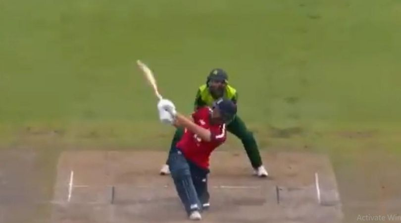 Dawid Malan cricket: Watch English batsman hits ferocious slog sweep off PSL captain Shadab Khan in Old Trafford T20I