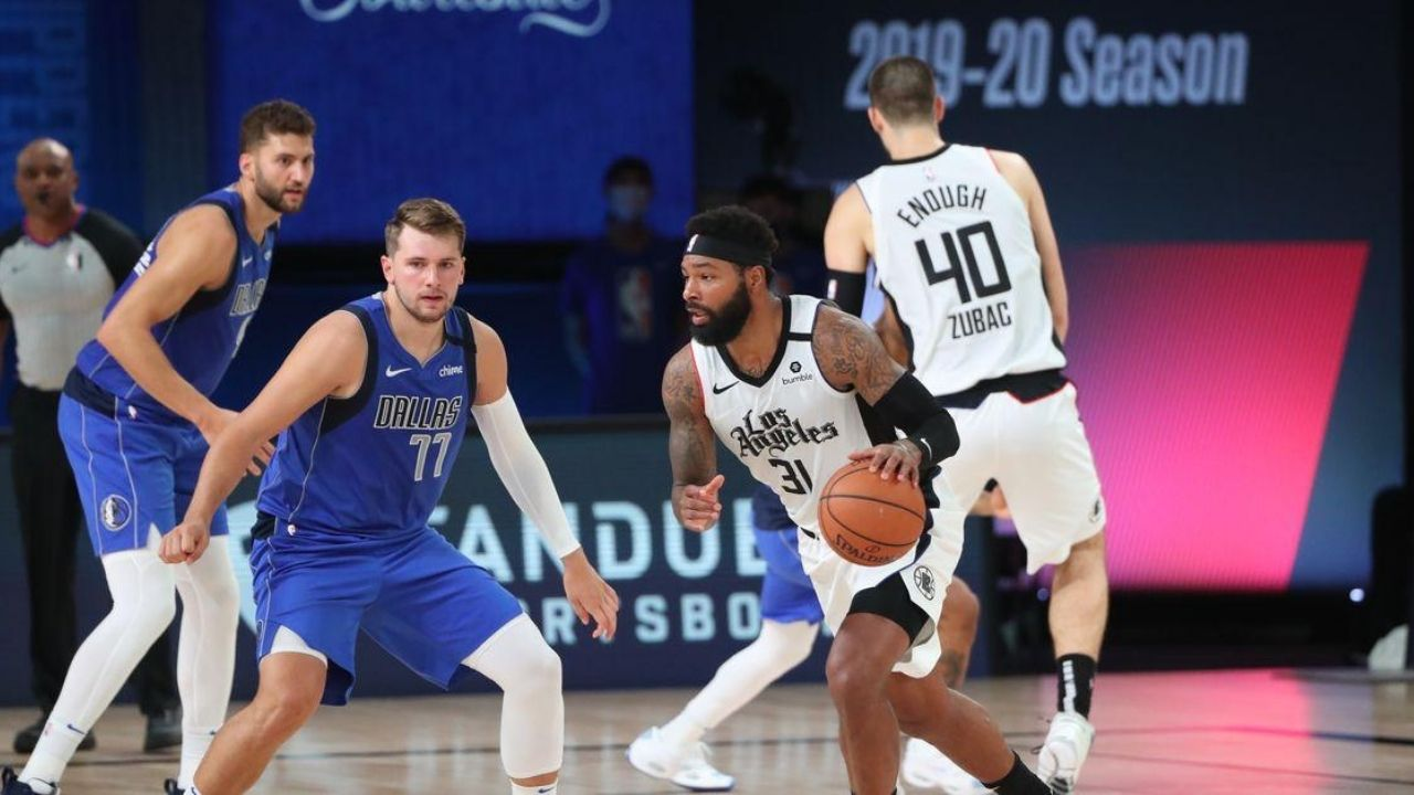 Marcus Morris and Luka Doncic