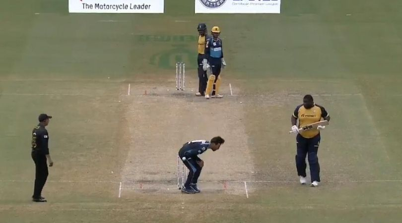 CPL 2020: Rashid Khan reacts funnily after getting hit in the abdomen in Zouks vs Tridents match