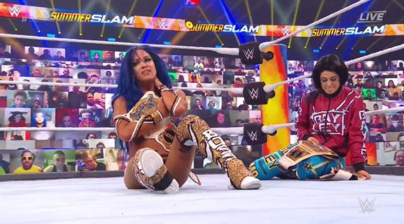 Sasha Banks loses yet another title defence as Asuka becomes WWE RAW women's champion at SummerSlam