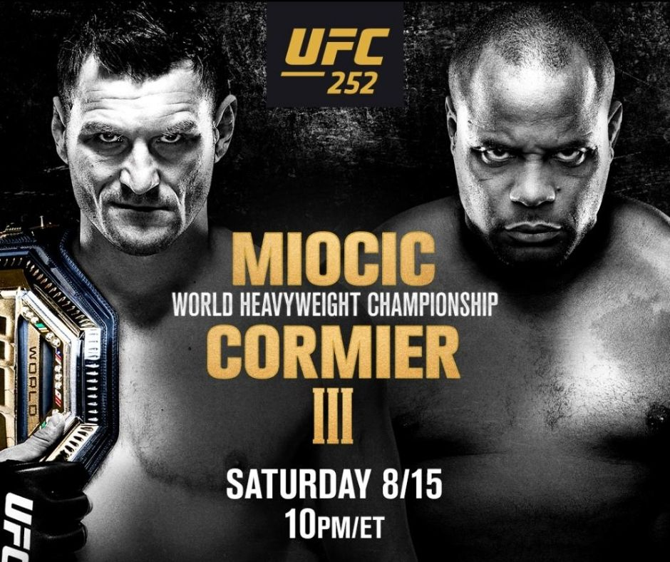 UFC 252 Miocic Vs. Cormier 3: Live Updates, Streaming Details, Results, and Highlights