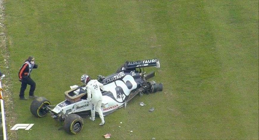 Daniil Kvyat Crash: Alpha Tauri driver meets unfortunate fate after crash at British GP