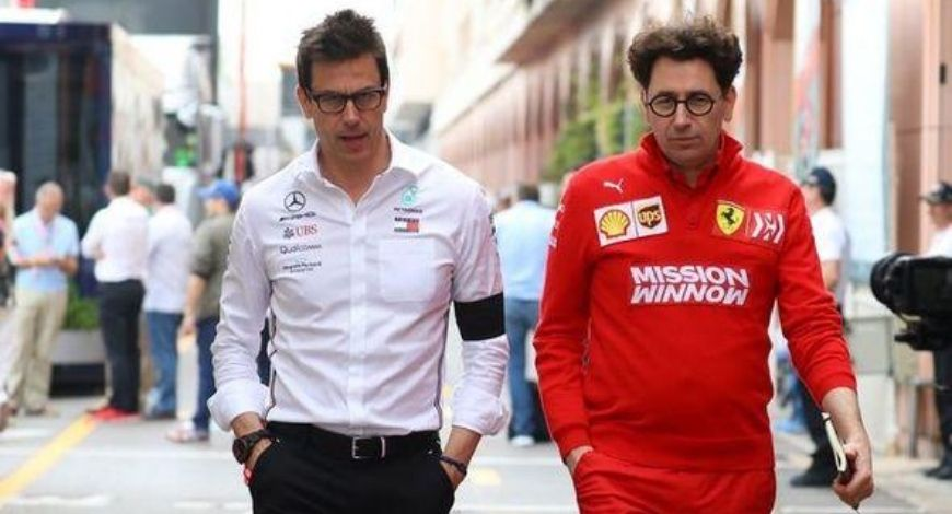 """""""I know there are people in other teams who like to talk about our situation""""- Mattia Binotto attacks Toto Wolff"""