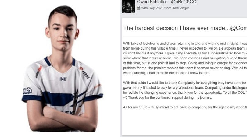 """""""The hardest decision I ever made"""" - oBo steps down from Complexity"""
