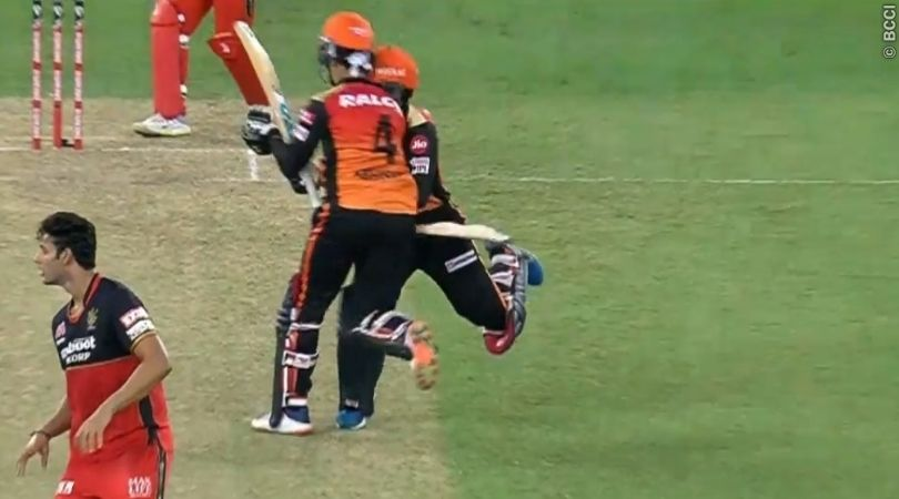 Abhishek Sharma and Rashid Khan collision: Watch SRH pair involved in nasty crash vs RCB