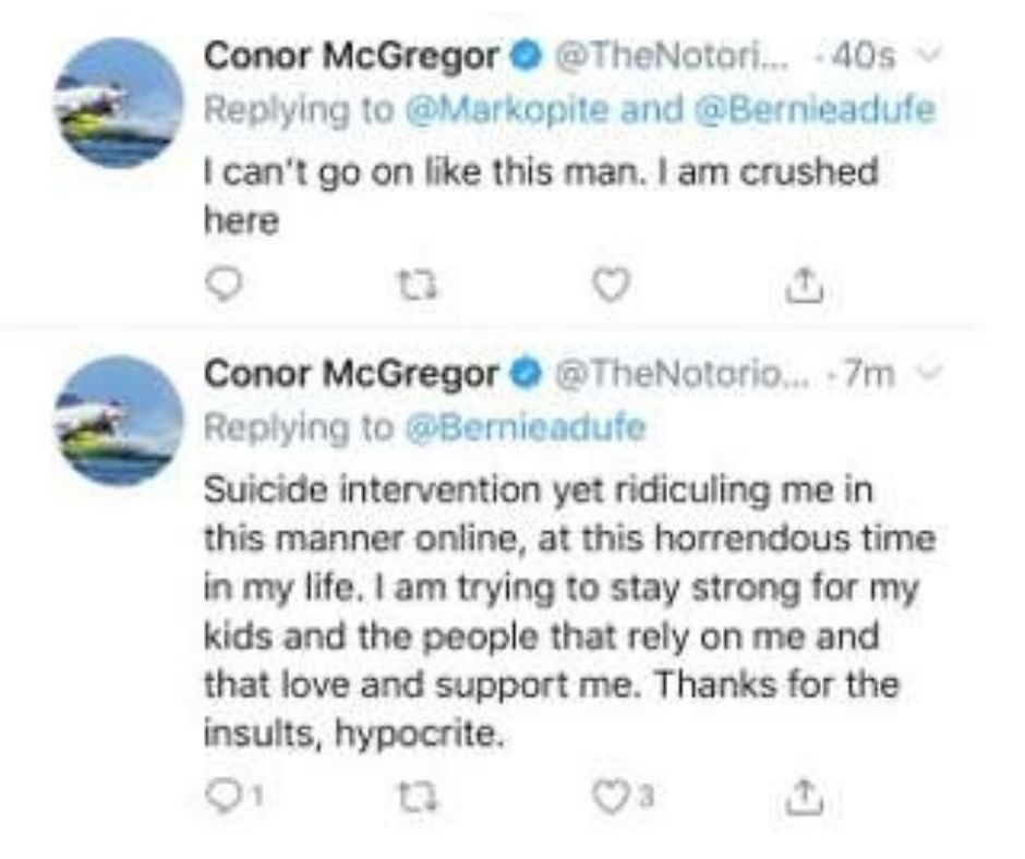Conor McGregor Posts Alarming Tweets: To Whom He Was Replying to, What Were The Comments That Propelled Such Reaction?