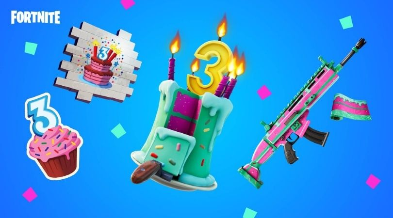 Fortnite Birthday Cakes Here Are The Birthday Challenges And The Limited Time Rewards The Sportsrush