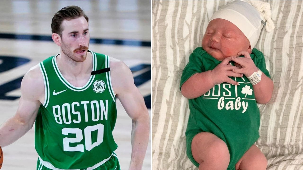 Gordon Hayward and wife new born son