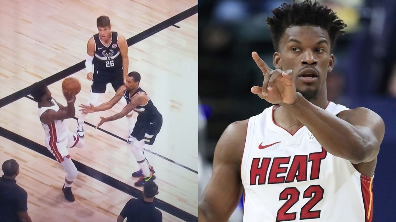 Jimmy Butler had stepped out of bounds