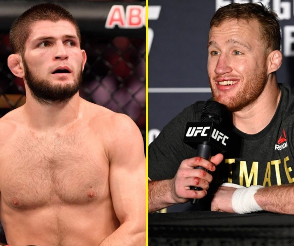 """""""I want him to see his blood""""- Justin Gaethje Hints a Bloody Fight Against Khabib Nurmagomedov at UFC 254"""