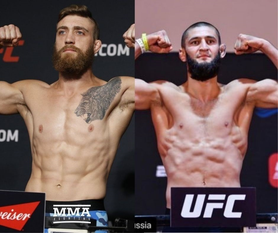 """""""I'm going to smash your face, chicken""""- Khamzat Chimaev and Gerald Meerschaert Involved in a Heated Argument Just Days Before Their Fight at UFC Vegas 11"""