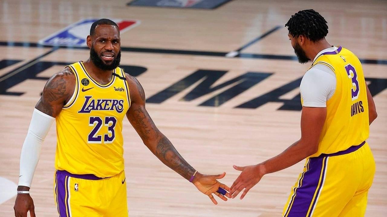 LeBron James eavesdropping on Nuggets