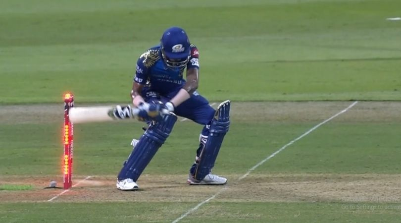 Hardik Pandya out today vs KKR: Watch Mumbai Indians all-rounder dismissed in peculiar manner by Andre Russell