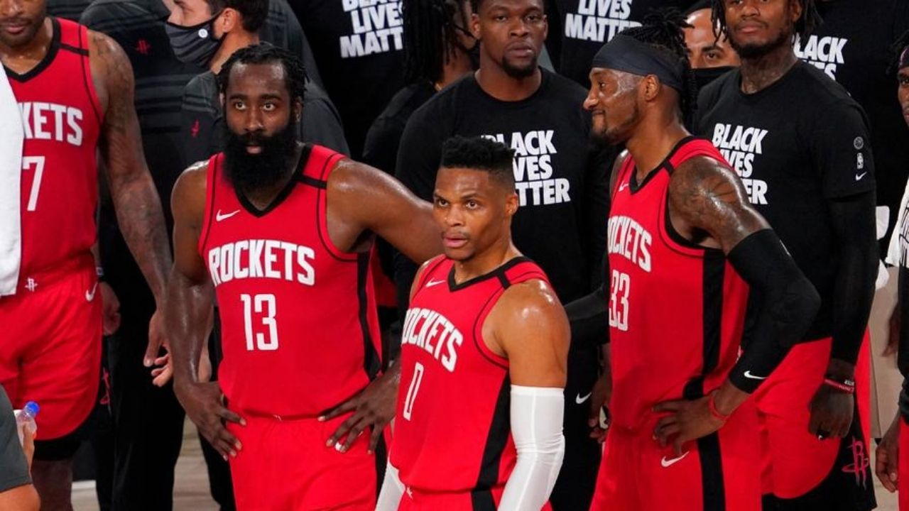 Rockets players locker room argument