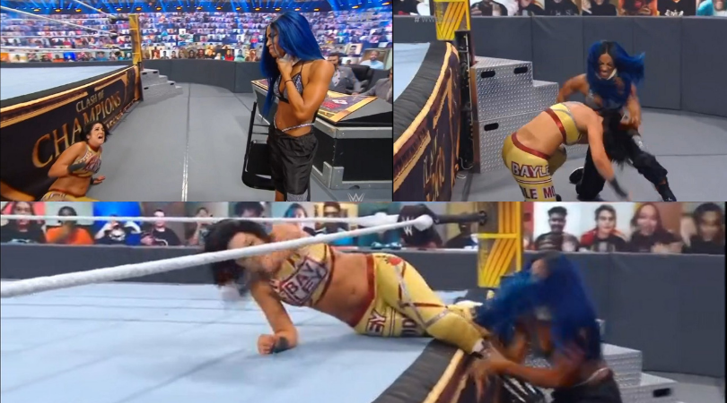 Sasha Banks returns at WWE Clash of Champions to attack former friend Bayley