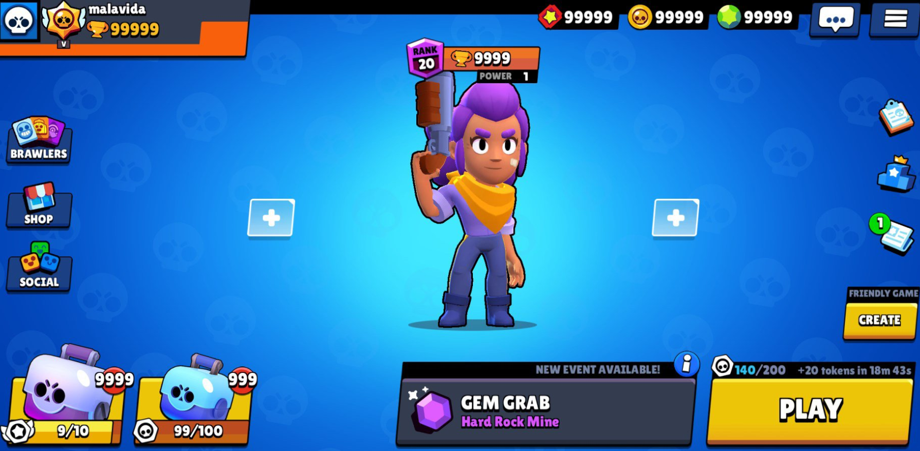 Brawl Stars Gems and Gold Coins