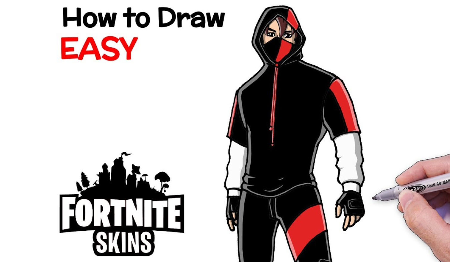 How to draw Fortnite Skins