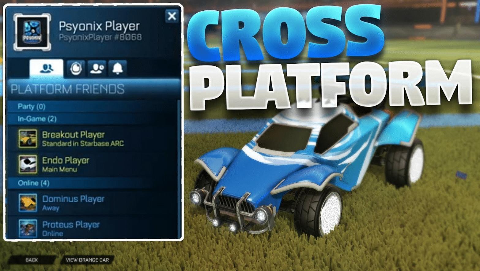 Cross Play in Rocket League