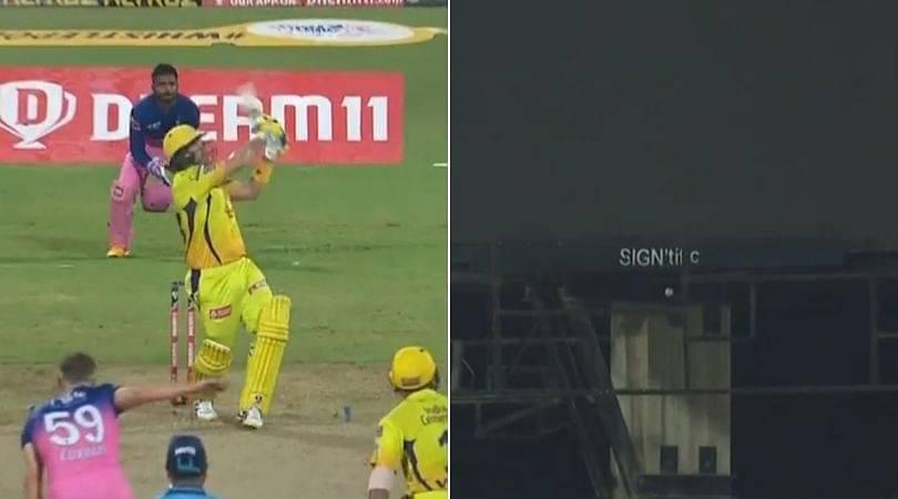 Shane Watson six vs Rajasthan Royals: Watch CSK opener's gargantuan six off Tom Curran hits scoreboard in IPL 2020