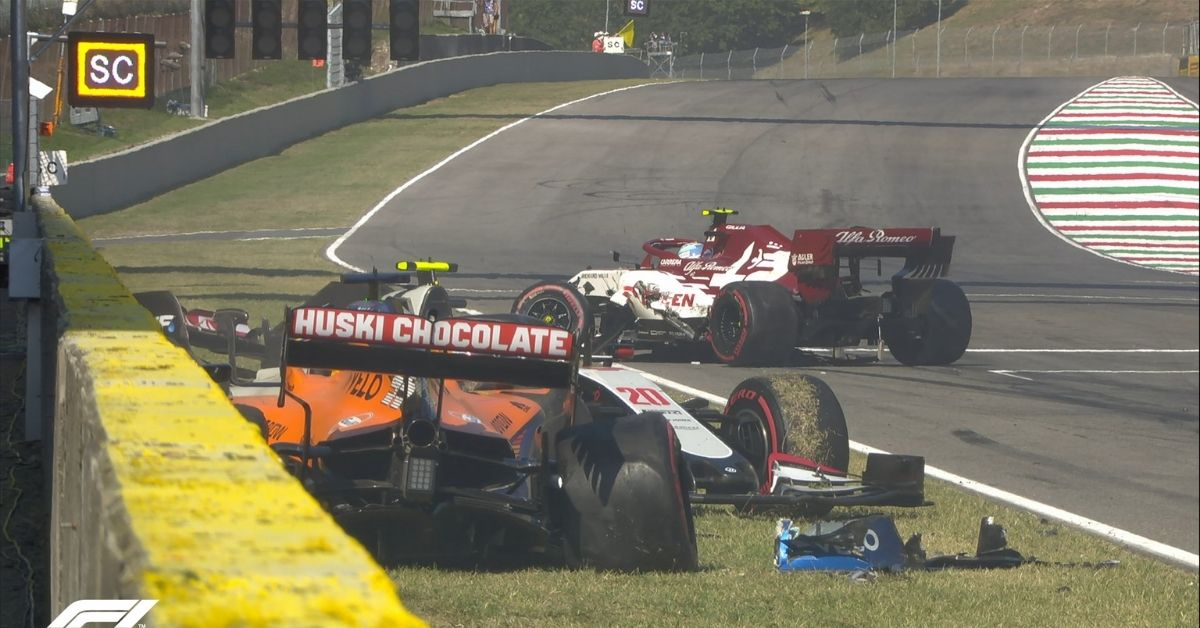 'They are trying to kill us': Romain Grosjean fumes on radio after insane crash during Tuscan Grand Prix