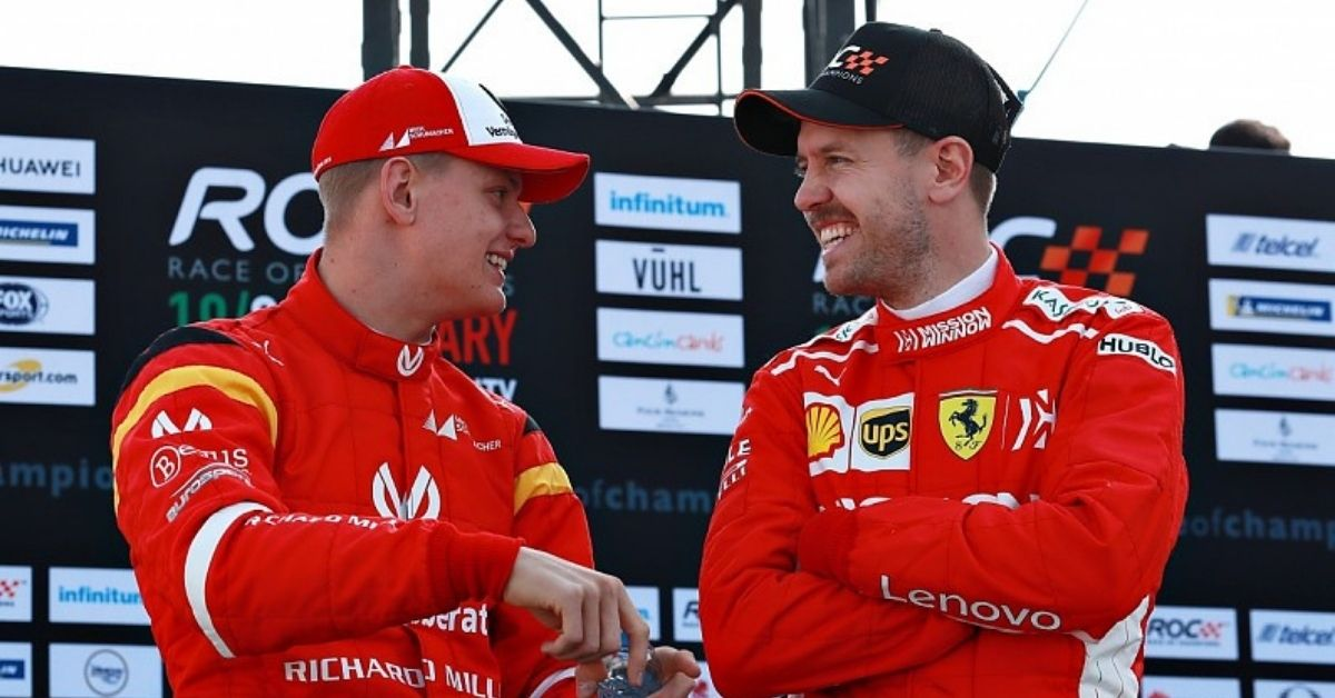 """I sometimes get a few tips""- Mick Schumacher praises Sebastian Vettel for helping him ahead of his F1 move"