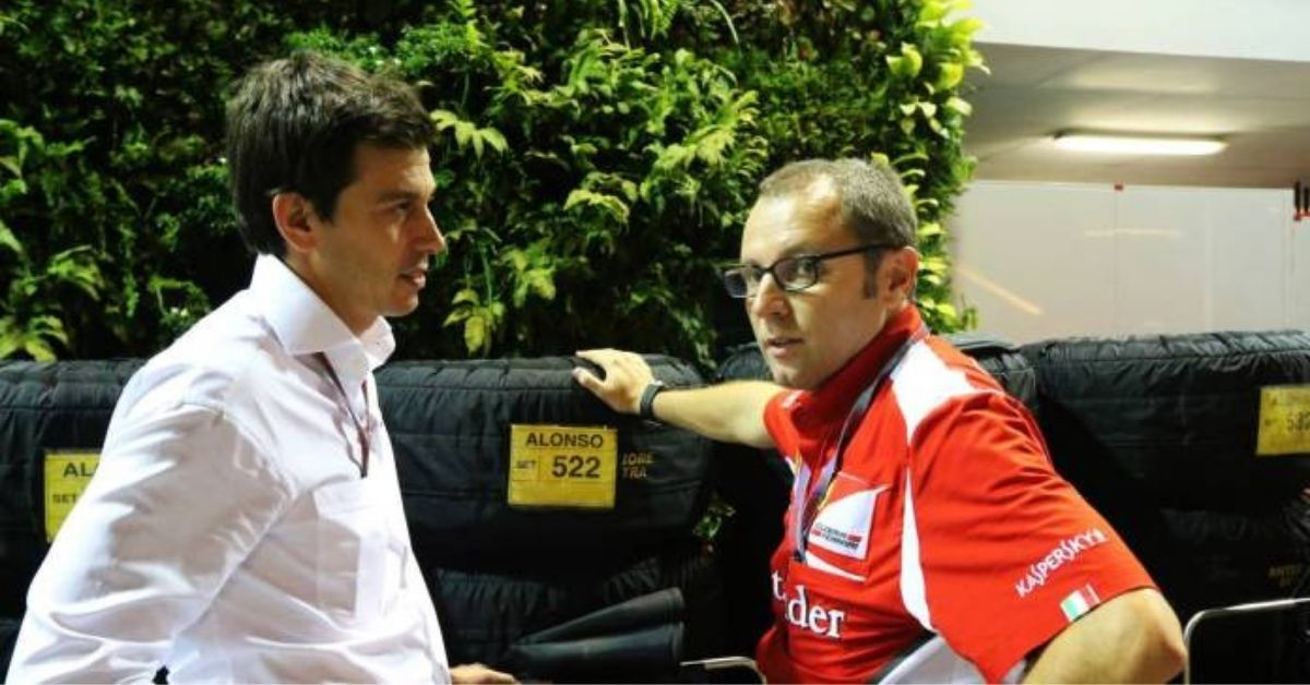 """""""He will try everything to slow us down""""- Toto Wolff speaking on appointment of new F1 boss Stefano Domenicali"""