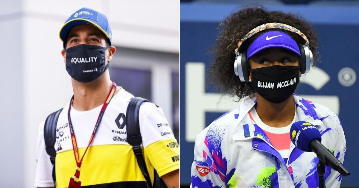 """""""I saw after the US Open""""- Daniel Ricciardo on taking inspiration from Naomi Osaka before wearing 'equality mask'"""