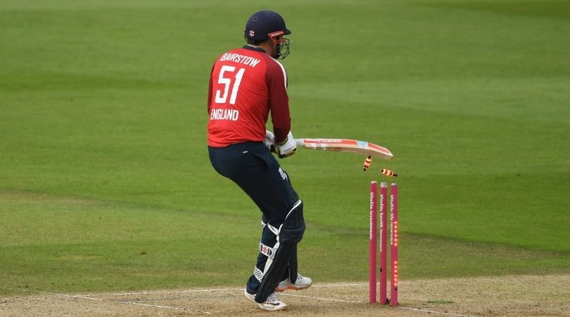 Jonny Bairstow dismissal vs Australia: Watch English opener out hit-wicket off Mitchell Starc in Southampton T20I