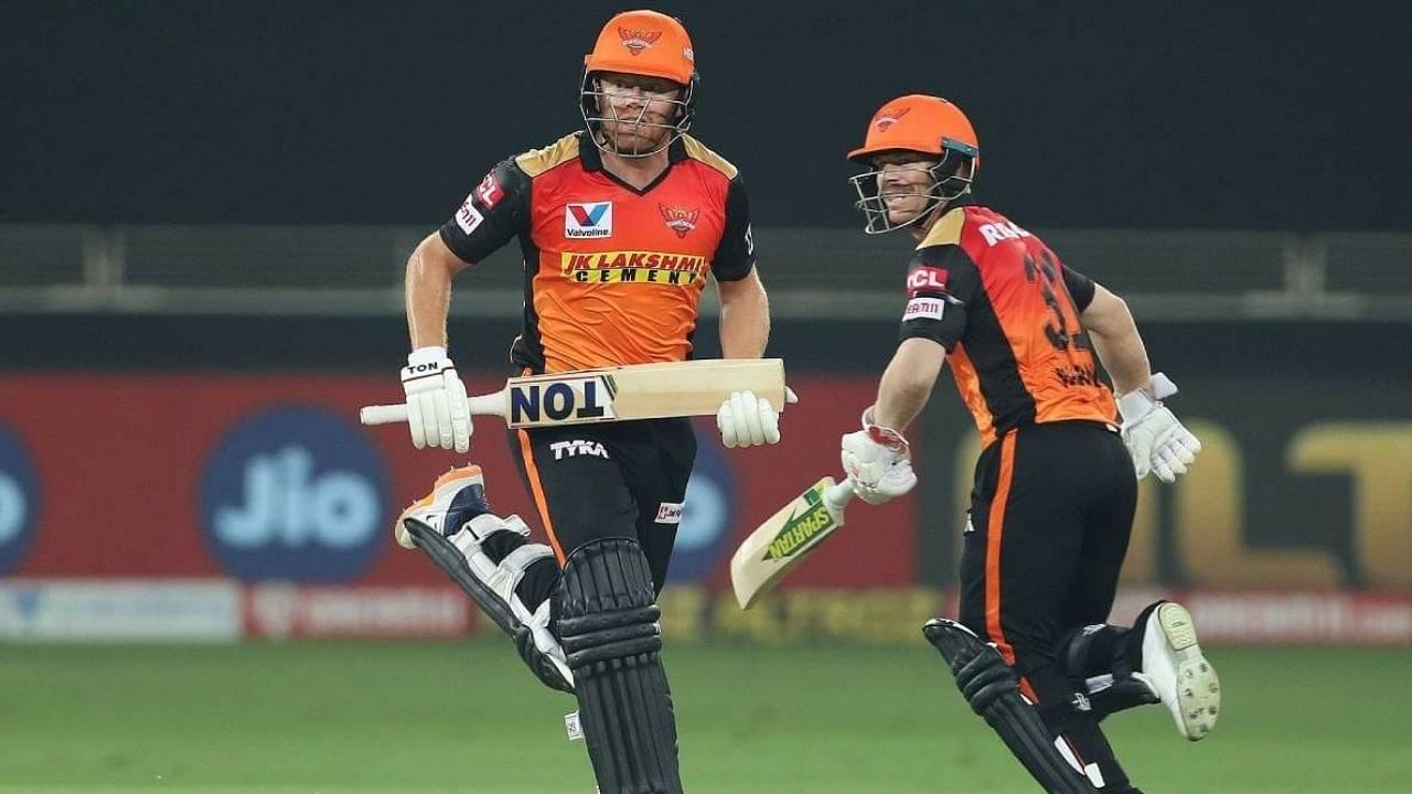 Why hasn't David Warner opened the batting with Jonny Bairstow in SRH vs KKR IPL 2020 match?