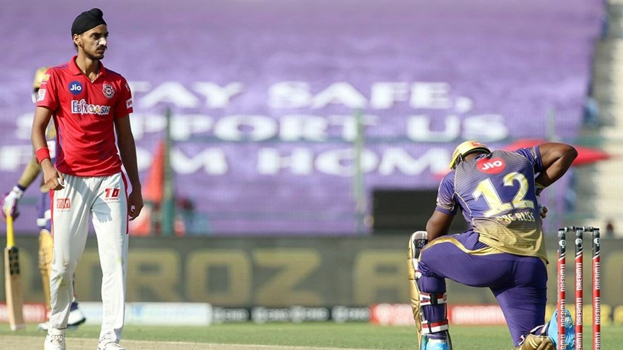 R Ashwin claps for Arshdeep Singh after KXIP bowler dismisses Andre Russell vs KKR