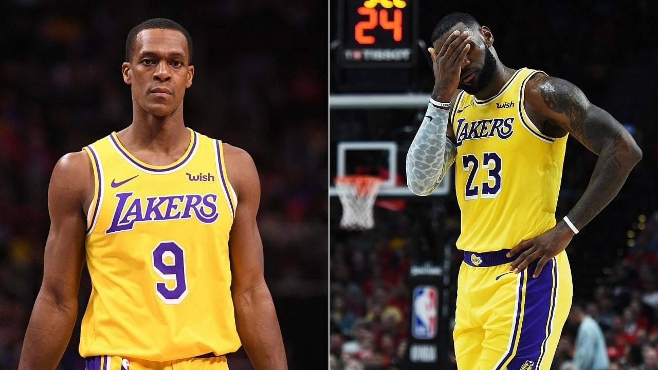 Rajon Rondo on LeBron James making faces at Lakers teammates