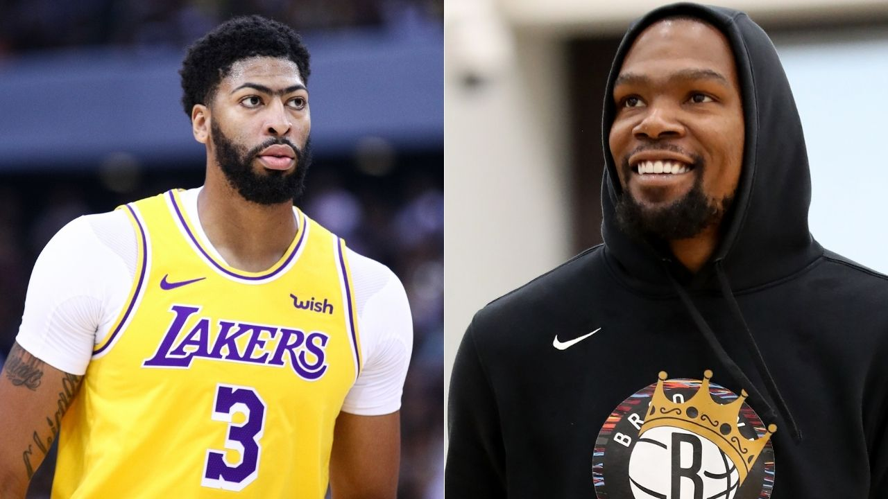 Anthony Davis' face looks like Kevin Durant's initials