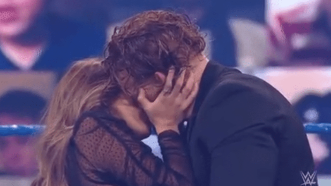 Aalyah Mysterio kisses Buddy Murphy after confessing her love for him