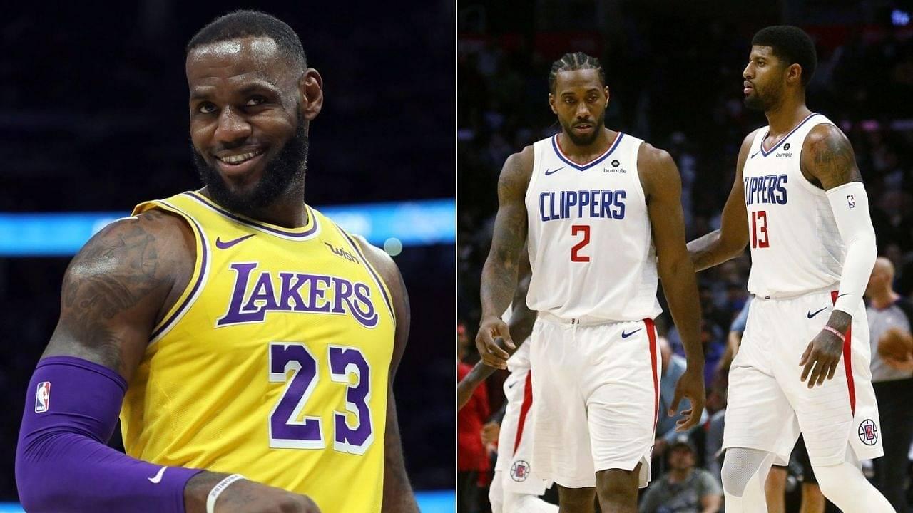 Nick Wright defends LeBron James and mocks Kawhi Leonard and Paul George