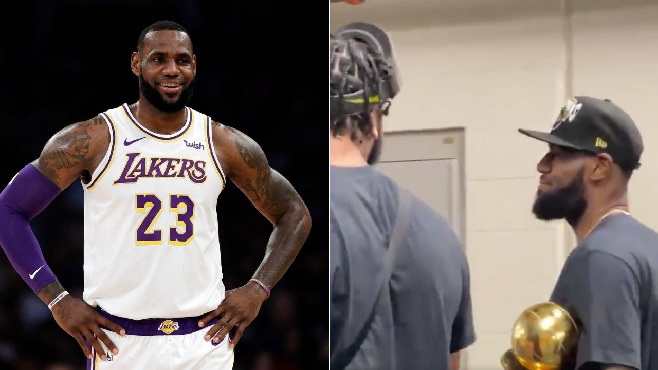 Only time all year that you don't ice': Lakers' LeBron James to Anthony Davis