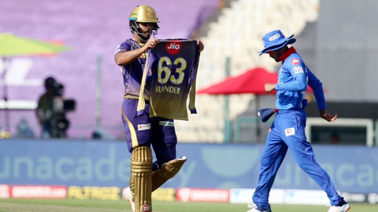 Surinder jersey: Why did Nitish Rana celebrate with Surinder-named jersey in KKR vs DC IPL 2020 match?